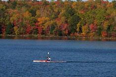 Paddling on Lake in Fall River. Nova Scotia